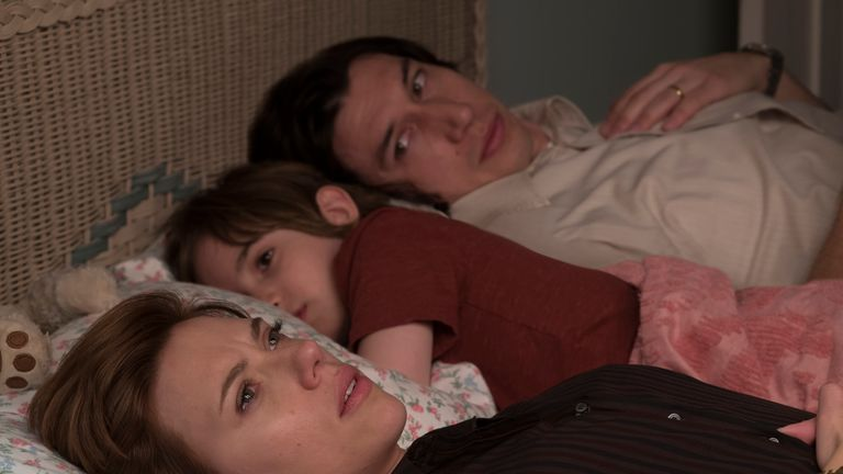 Adam Driver and Scarlett Johansson in Noah Baumbach's Marriage Story