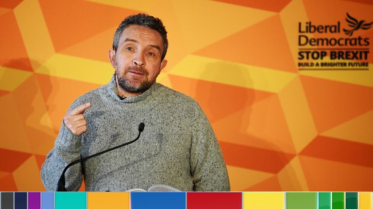 Eddie Marsan threw his weight behind the Lib Dem campaign