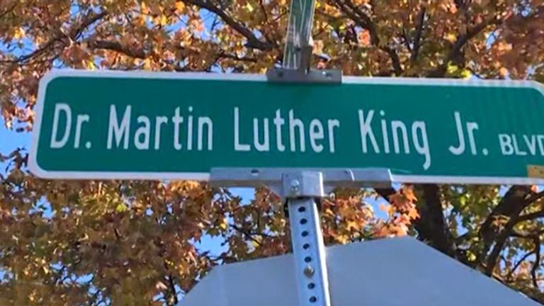 Dr Martin Luther King Jr boulevard, Kansas City. Pic: CBSN