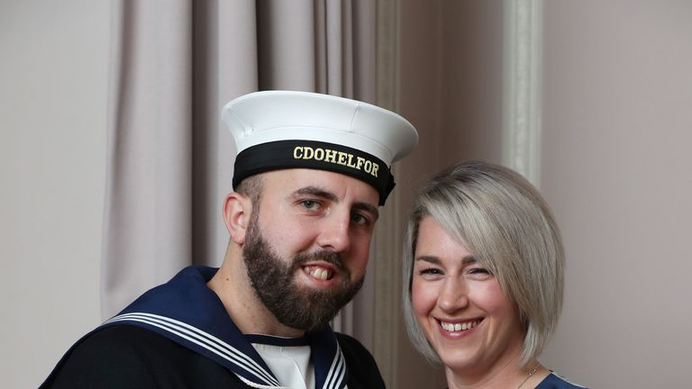 Matthew Gallimore MBE and his fiancee Adele Thomasson following their engagement