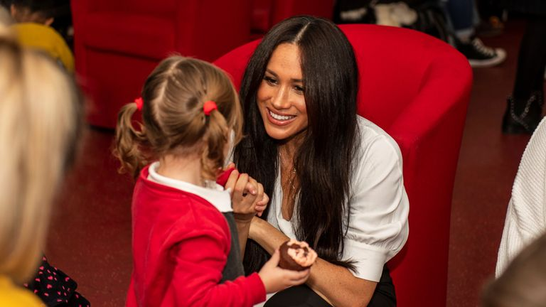Meghan and Harry visit military families
