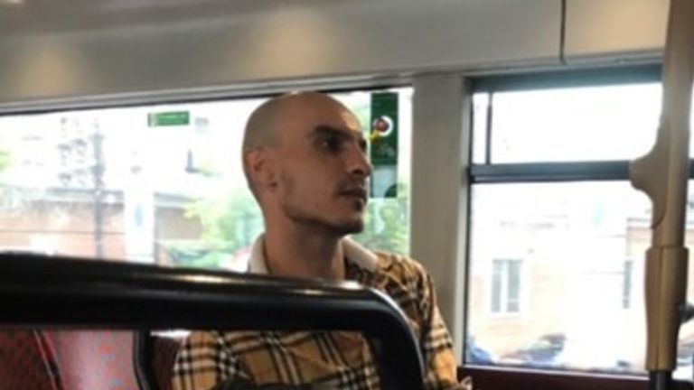 Police are looking for this man in connection with sexual assaults on London buses. Pic: Met Police