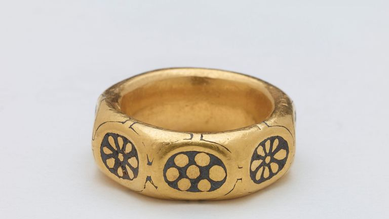 A gold ring from the 9th century which was part of a £3m Viking hoard