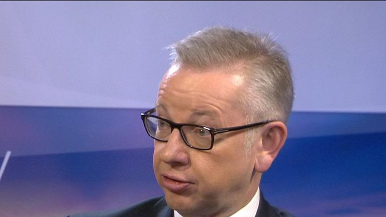 Michael Gove believes Brexit can be achieved within the latest timeframe