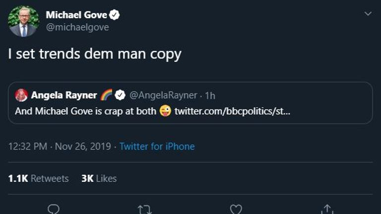 Michael Gove has been widely mocked for this tweet