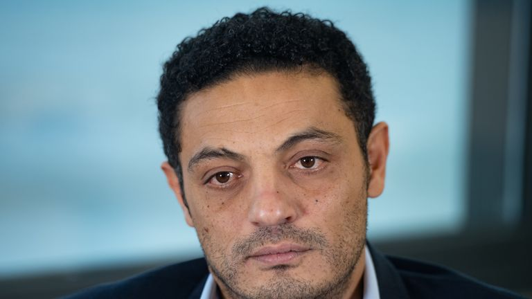 Egyptian self-exiled businessman Mohamed Ali