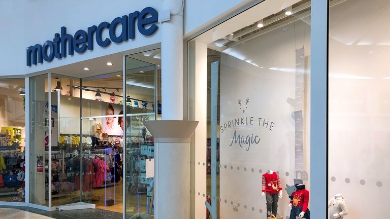 A Mothercare store in Peterborough