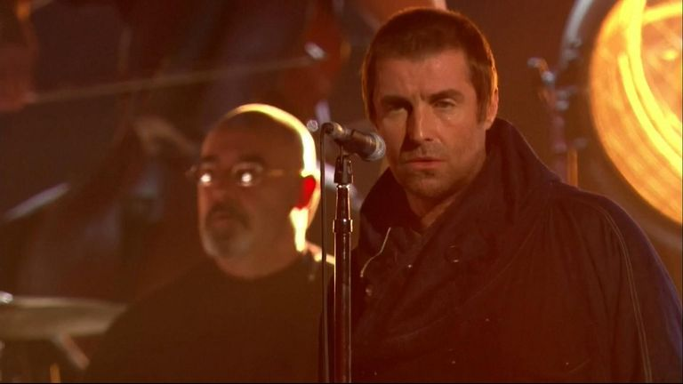 Liam Gallagher congratulated MTV for 'recognising his brilliance' while collecting the first ever Rock Icon award.
