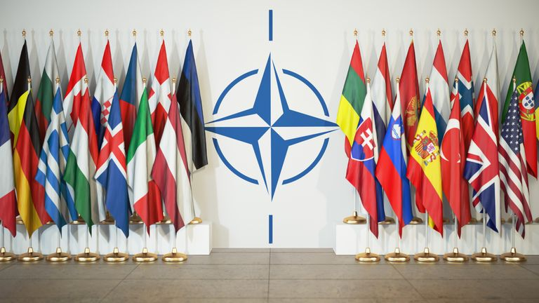 Flags of members of NATO