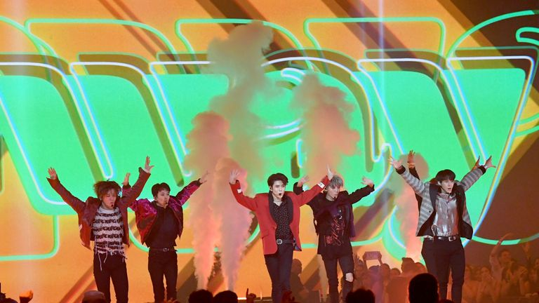 NCT 127 became the first K-pop group ever to perform at the awards