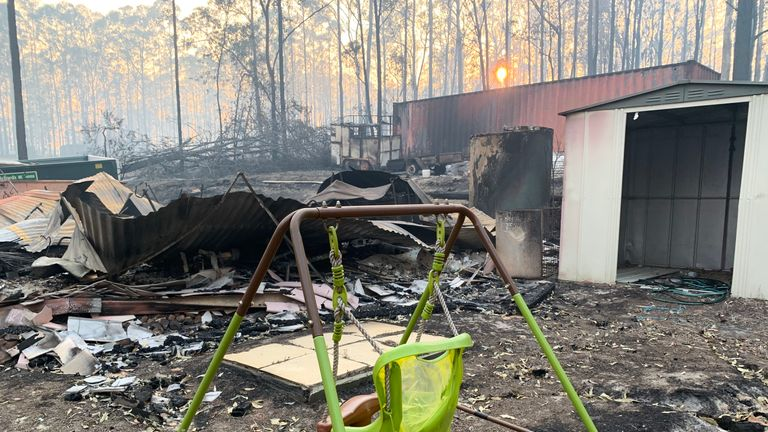 The Sudell family home has been gutted by the fires