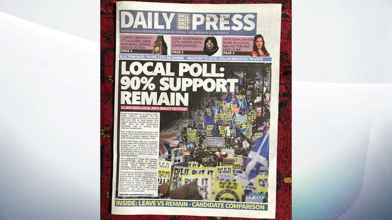 'Fake newspaper' put out by a political party at the 2019 election