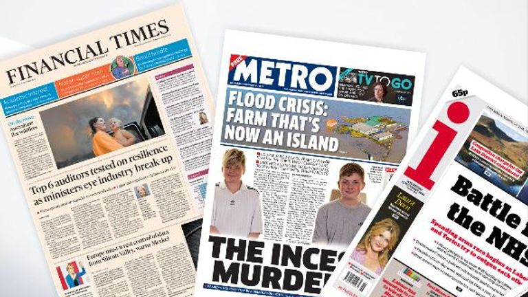 Wednesday's front pages