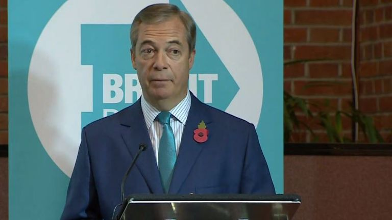 Nigel Farage launches the Brexit Party's election campaign