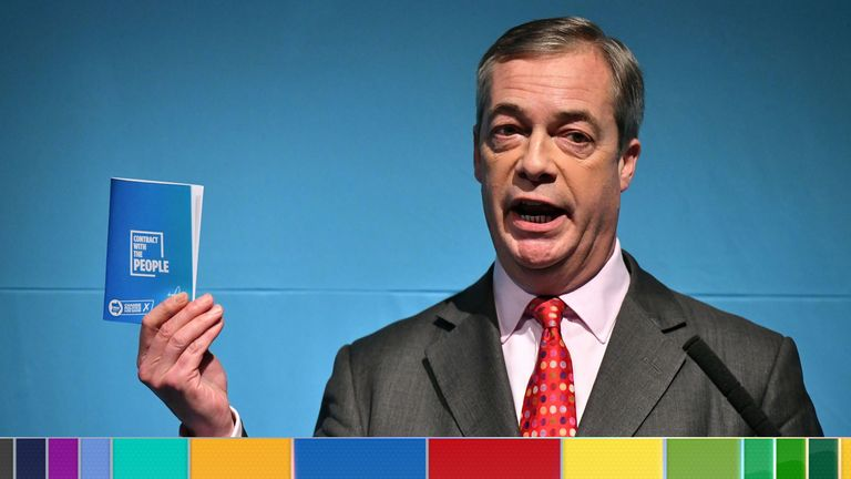 Brexit Party leader Nigele Farage