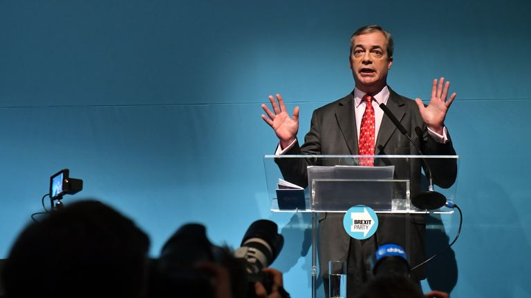 Nigel Farage said he wants to cap net migration to 50,000 people a year