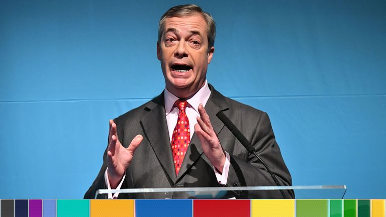 Nigel Farage announced the Brexit Party's policies on Friday