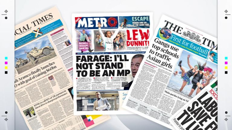Monday's front pages