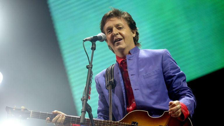 Paul McCartney headlined Glastonbury in 2004