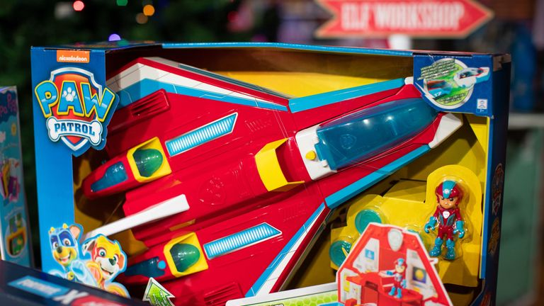 A PAW Patrol Mighty Pups Super PAWs Mighty Jet Command Centre by Spin Master Toys also made the top 12 list