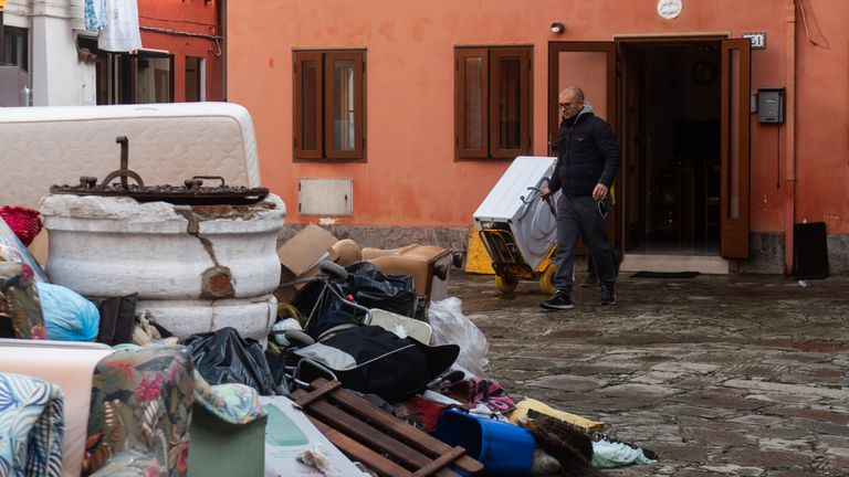 Many of the residents on Pellestrina say they feel abandoned after the flooding