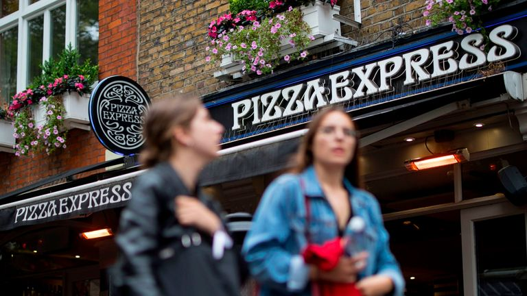 Pizza Express has 482 sites in the UK and Ireland where it trades as Milano
