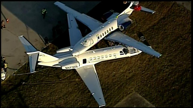 Two Cessna air crafts collided at the San Antonio International Airport Friday afternoon (11/15).