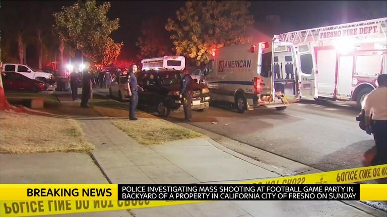 Ten people were shot at a backyard party in California