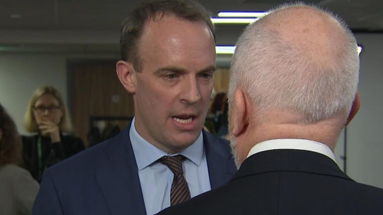 Foreign Secretary Dominic Raab and Labour's Andy McDonald face off after an interview with Sky News.
