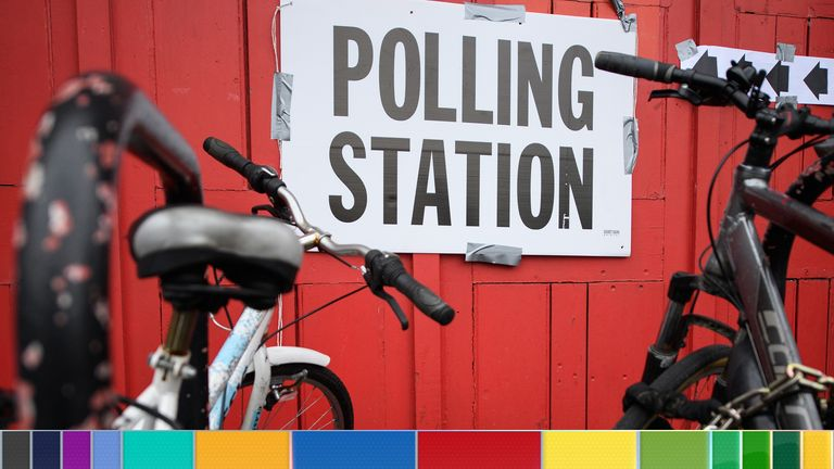 Poll station - branded election image