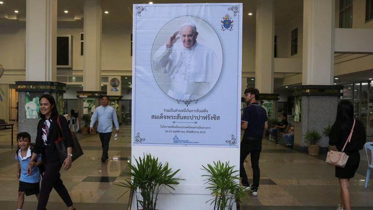 The Pope's visit is expected to attract thousands