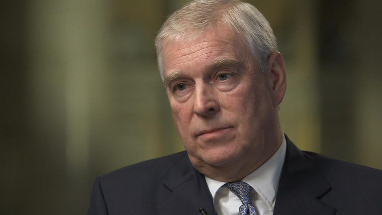Prince Andrew has spoken out about allegations against him. Pic: BBC Newsnight