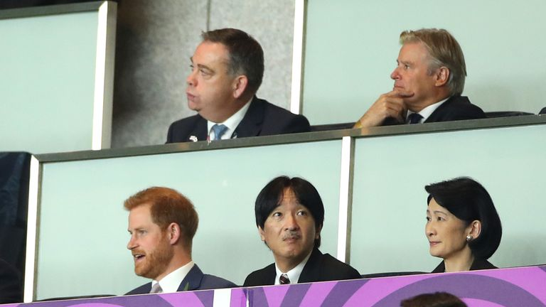 Prince Harry was in Yokohama for the final
