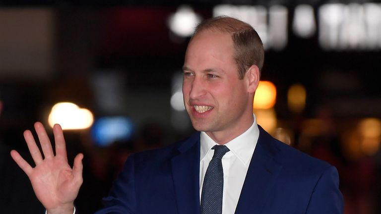 Prince William at the Tusk Conservation Awards in London