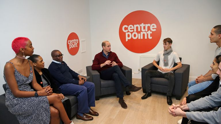 Prince William visited the charity's apprenticeship accommodation