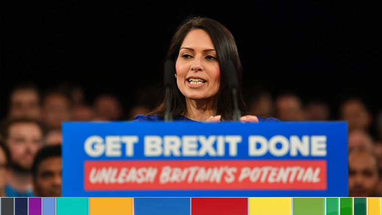 Home secretary Priti Patel on the campaign trail