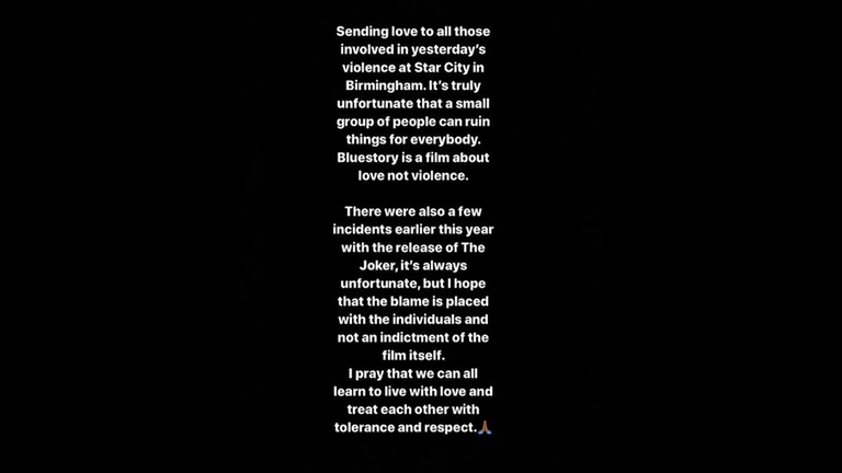 Rapman called the incident in Birmingham 'unfortunate' on Instagram. Pic: Instagram/ Rapman