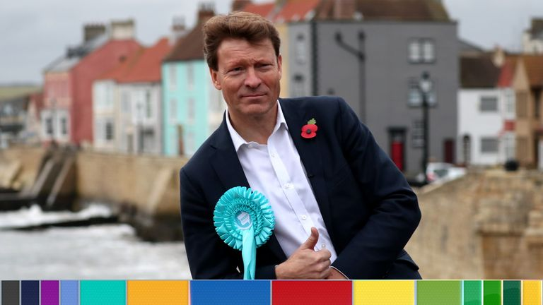 Brexit Party chairman Richard Tice poses for a picture during a campaign event in Hartlepool