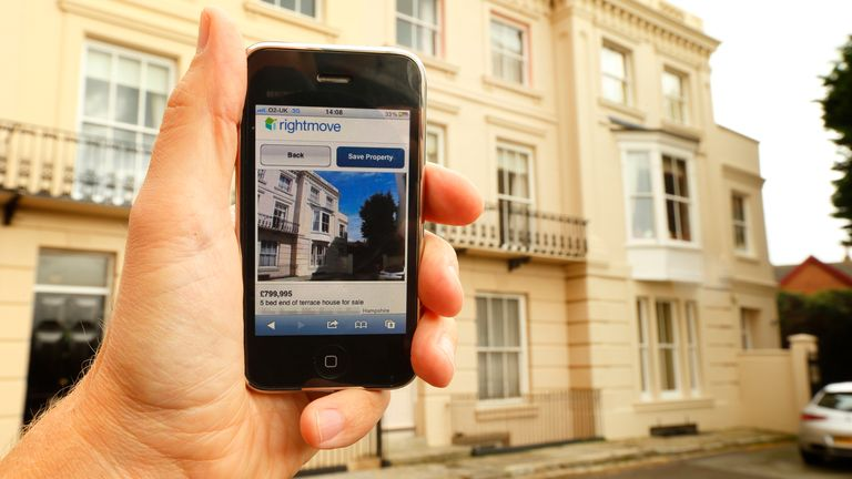 Property for sale in Portsmouth, Hampshire is viewed on the Rightmove website using an Apple iPhone 3GS. PRESS ASSOCIATION Photo. Picture date: Friday September 28, 2012. Photo credit should read: Chris Ison/PA Wire