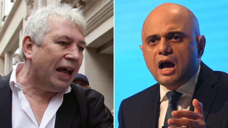 Rod Liddle (L) and Sajid Javid