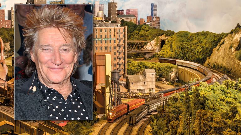 Sir Rod Stewart's HO scale model railroad.