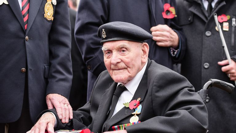 Ron Freer, 104, said he is 'hugely honoured' to be marching in tribute to those who fell