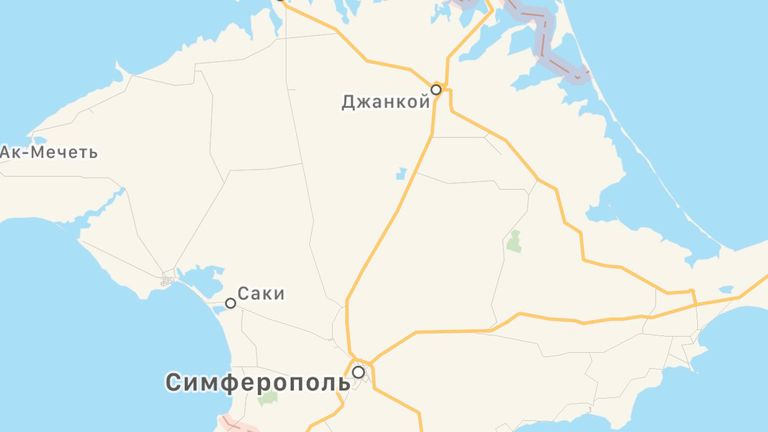 Russian users are now shown Crimea as Russian territory. Pic: Apple Maps