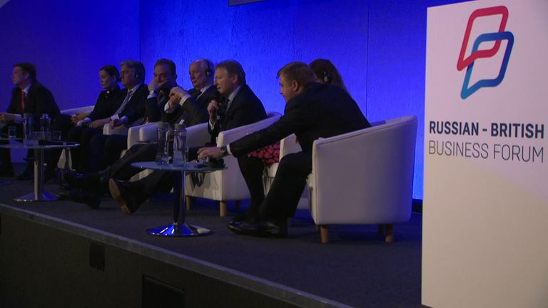 Mr Klelin spoke on the fringes of a Russian-British business event in London