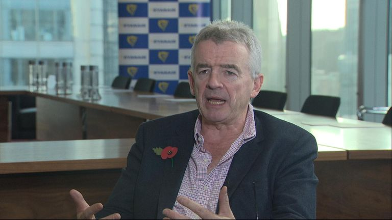 Michael O'Leary criticised McDonald's decision to sack their CEO