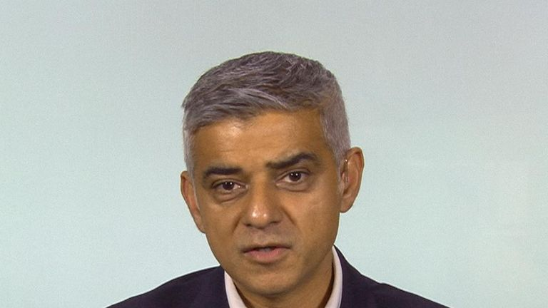 Sadiq Khan says he is in awe of the public and the police