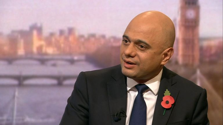 Sajid Javid on the Andrew Marr show still