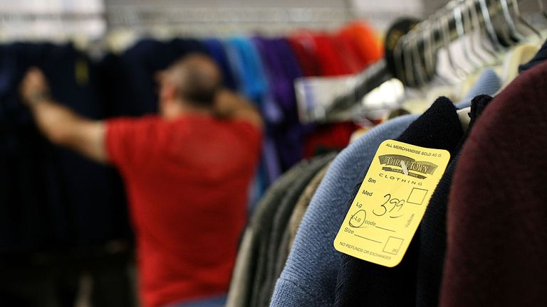 SAN FRANCISCO - OCTOBER 14: A price tag is seen on a sweater at a Thrift Town thrift store October 14, 2008 in San Francisco, California. As the economy continues to falter, thrift stores are seeing a surge in business as Ameicans look for ways to save money. (Photo by Justin Sullivan/Getty Images)