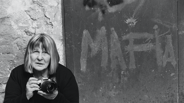 Shooting The Mafia. Interview with Kim Longinotto. Pic: Letizia Battaglia