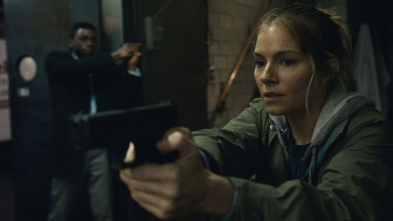 Sienna Miller in 21 Bridges. Pic: STX International